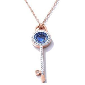 Rose Gold Plated Stainless Steel Key Necklace